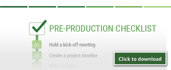 PROTIPS For PREPRODUCTION A Checklist For Successful Video Pre - Video production timeline template