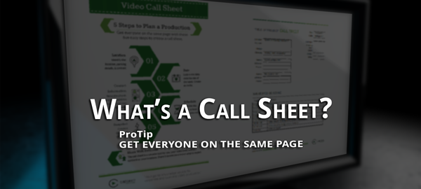 infographic and template to aid in creating a call sheet